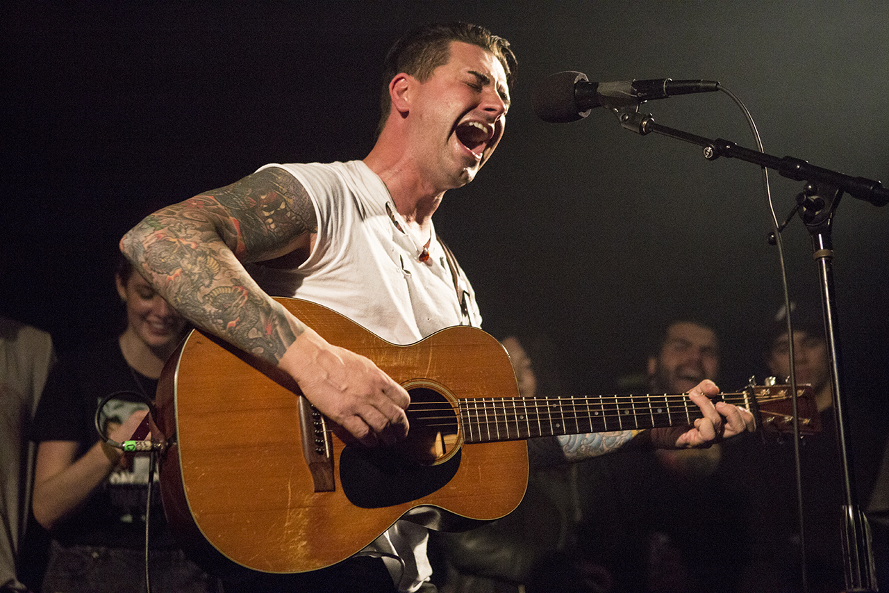 Dashboard Confessional's Chris Carrabba at Taking Back Tuesday (Photo by Carl Pocket)