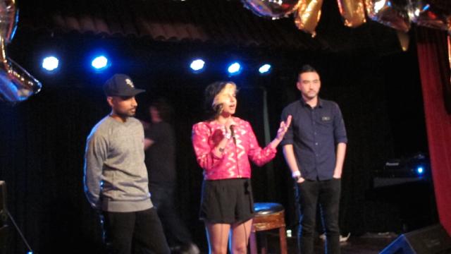 Kush Fernando, Negin Singh and Chad Kenny at BROKE LA's announcement at El Cid