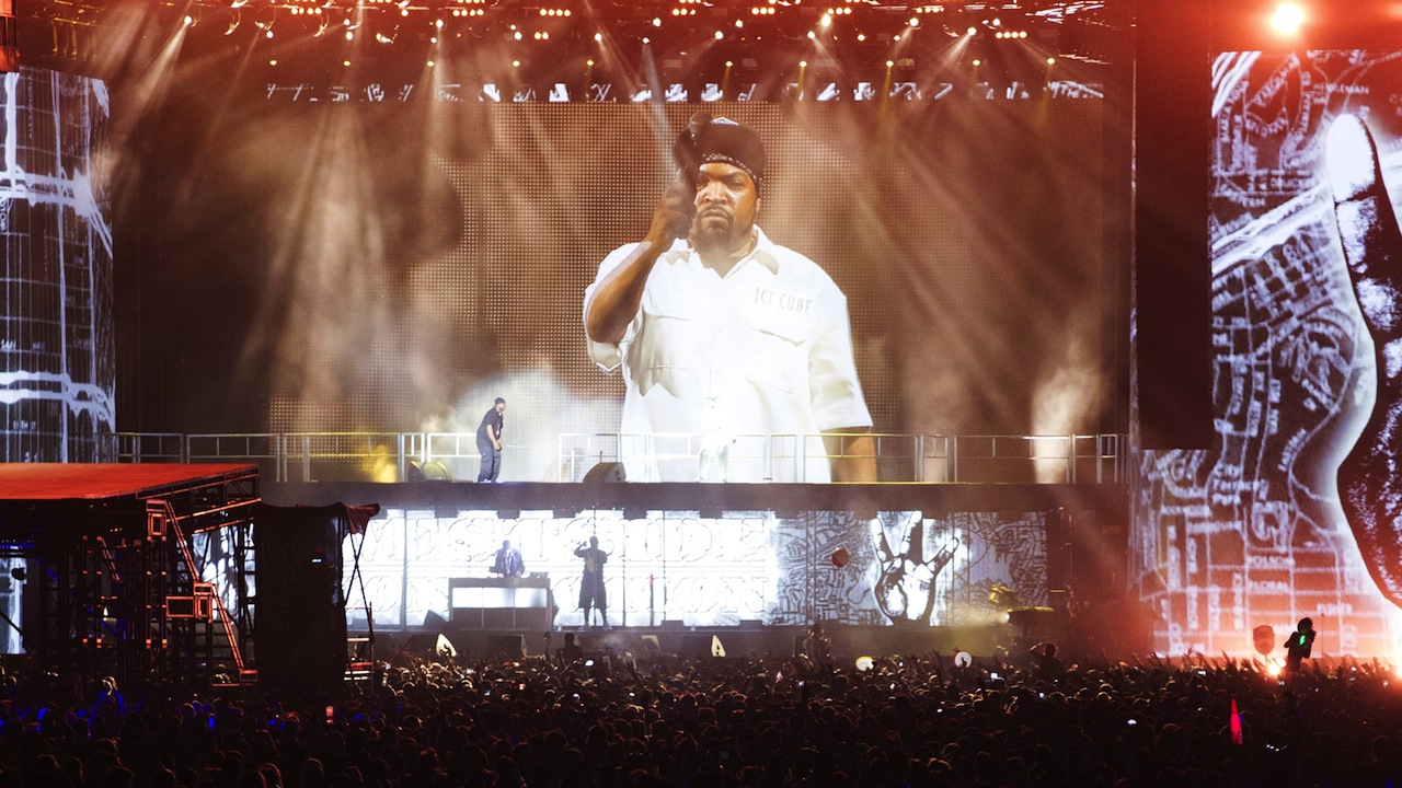 Ice Cube in front of a huge crowd at Coachella (Photo courtesy of Goldenvoice)