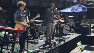 Trapdoor Social, playing a solar-powered show Sunday afternoon