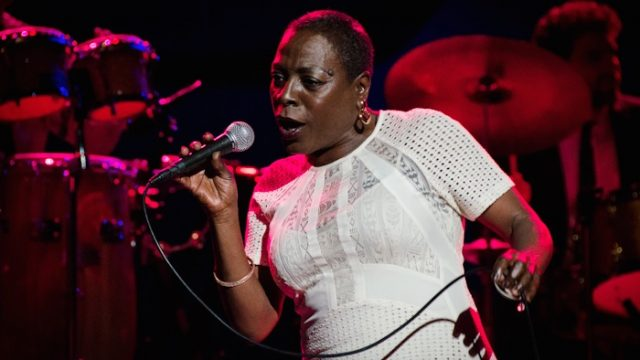 Sharon Jones at the Wiltern in 2014 (Photo by Zane Roessell)