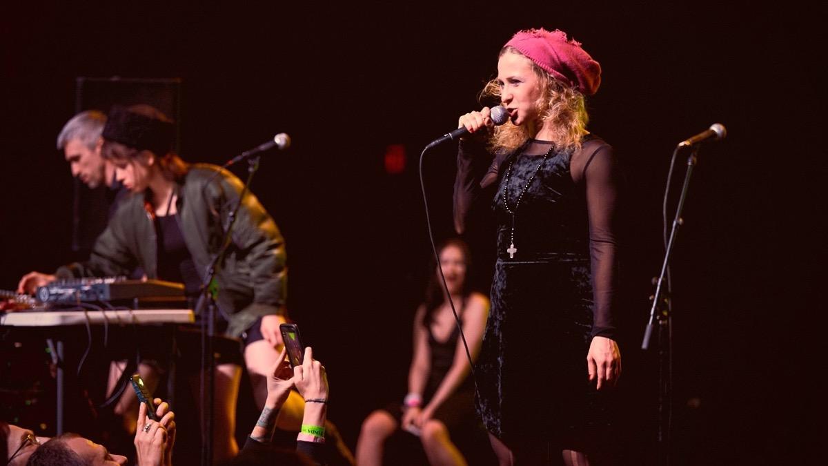 Maria Alyokhina of Pussy Riot at the Fonda Theatre (Photo by David Benjamin)