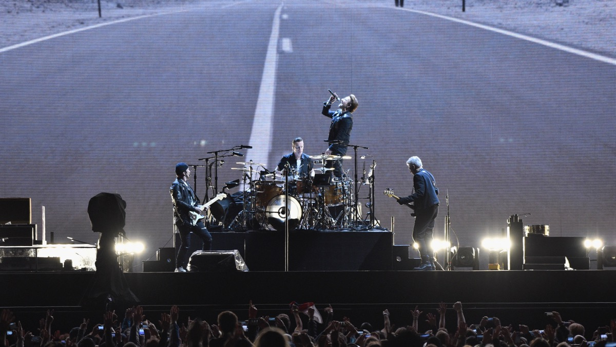 U2 on Sunday at CenturyLink Field in Seattle (Photo by Kevin Mazur/Getty Images for Live Nation)