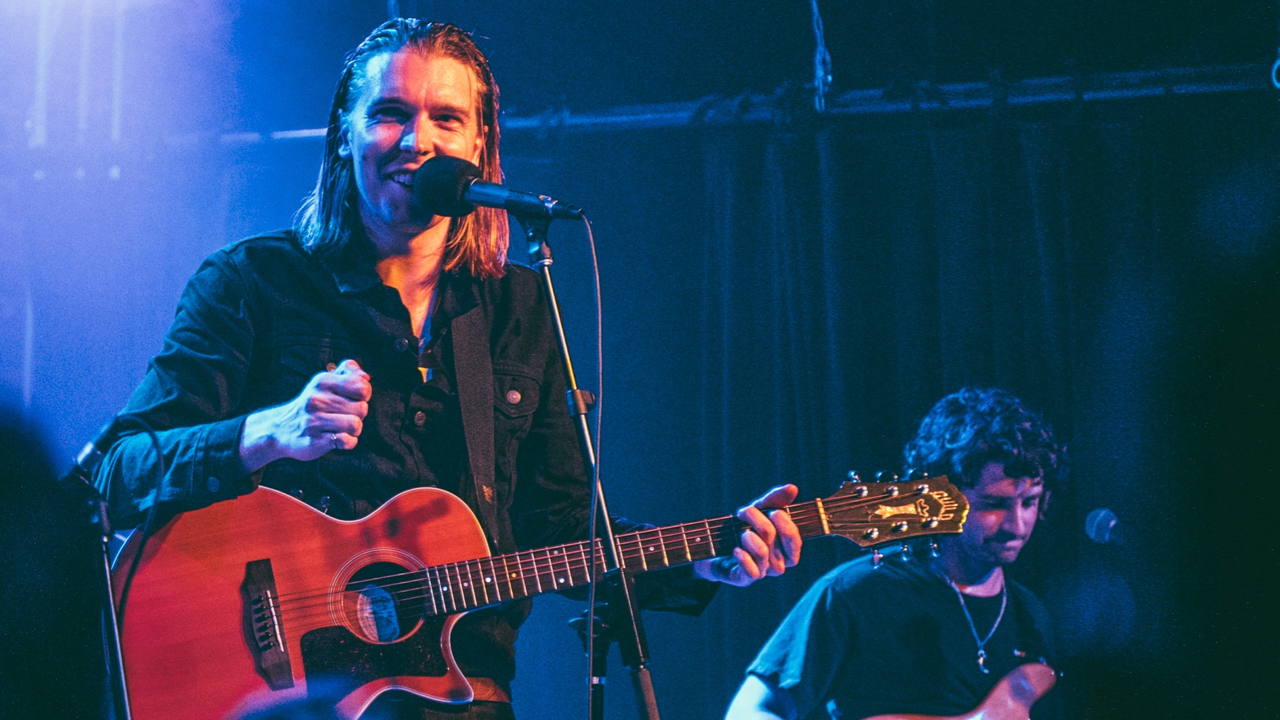Alex Cameron at the Hi Hat (Photo by Zane Roessell)