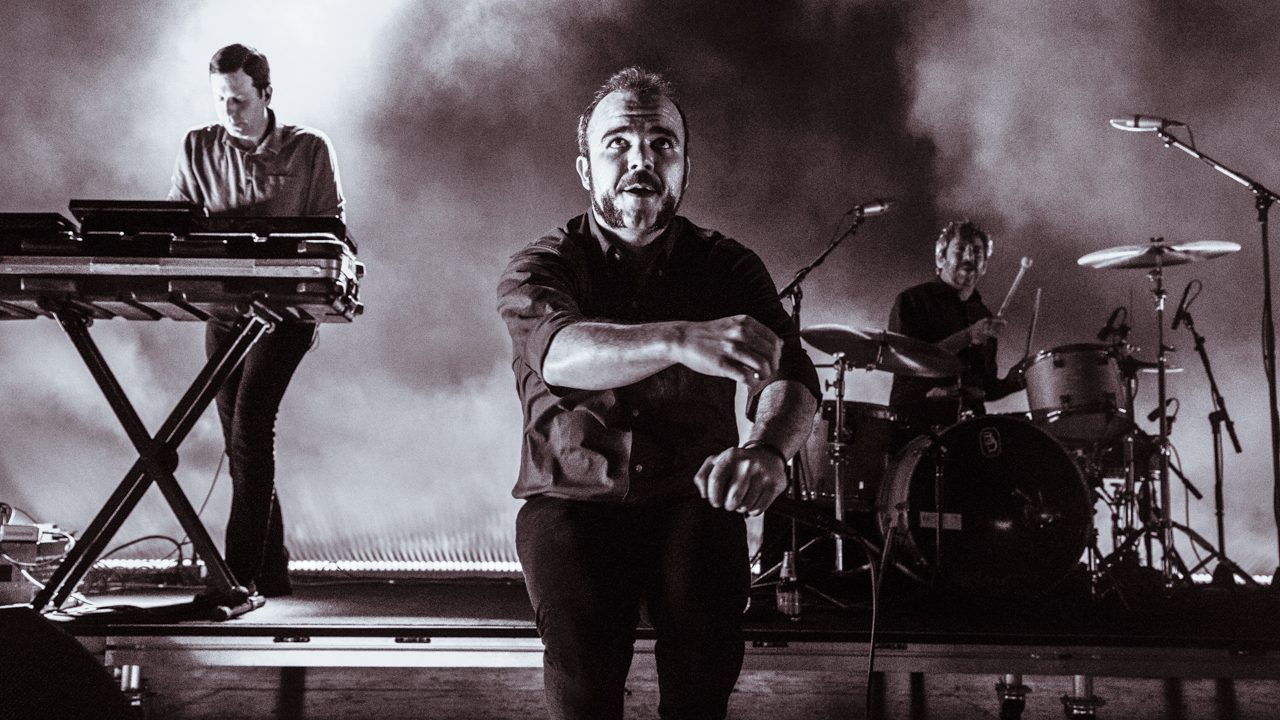 Future Islands at the Greek Theatre (Photo by Jazz Shademan)