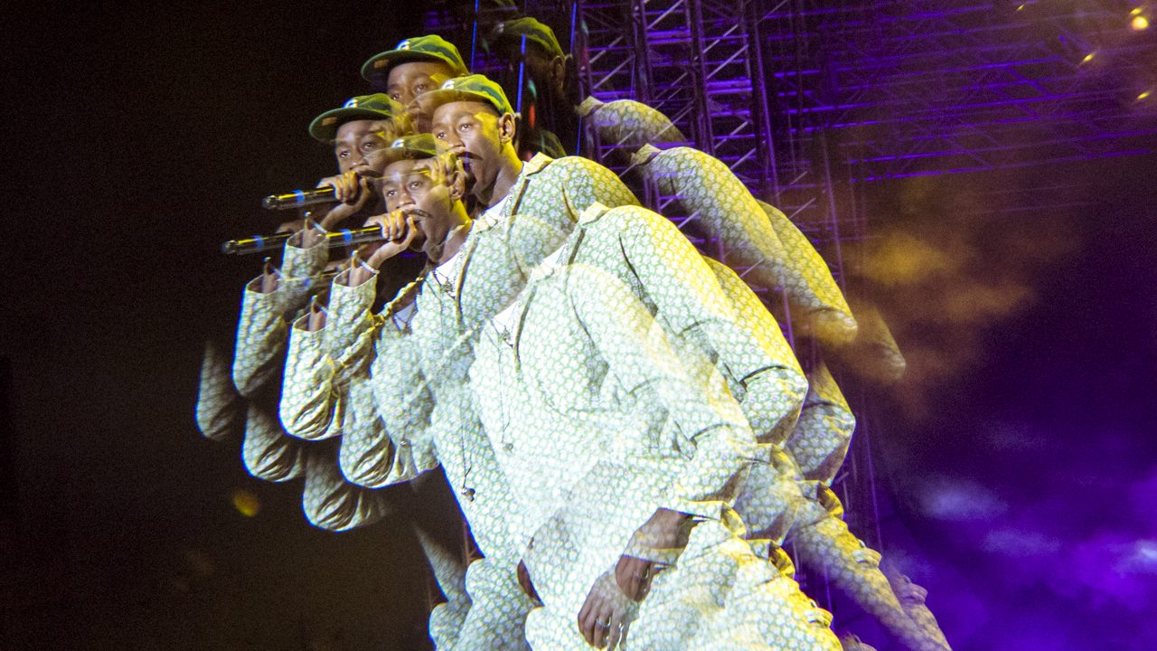 Tyler, the Creator at Camp Flog Gnaw Photo by Jazz Shademan)